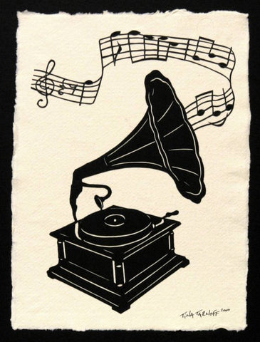 Victrola - Hand-Cut Silhouette Papercut