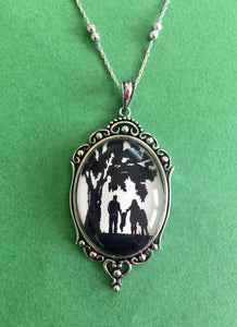 A DAY in the PARK Necklace - pendant on chain - Silhouette Jewelry