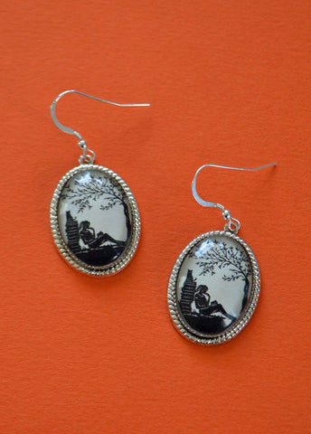 AFTERNOON READING in the PARK Earrings - Silhouette Jewelry