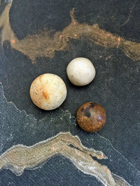 Antique Victorian Clay Marbles Game Toys 1800s