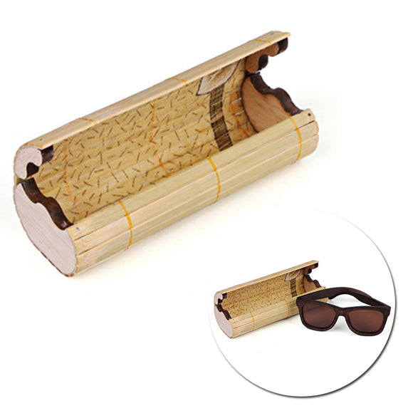 Vintage Handmade Bamboo Wooden Sunglasses Box