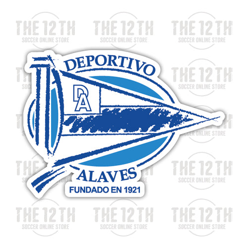 Deportivo Alaves Removable Vinyl Sticker Decal - 12 Soccer Tee