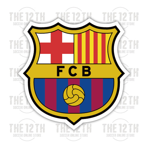 FC Barcelona Removable Vinyl Sticker Decal - 12 Soccer Tee