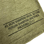 Iron Sharpens Iron Tee (Military Green) | Victory Apparel, Inc.