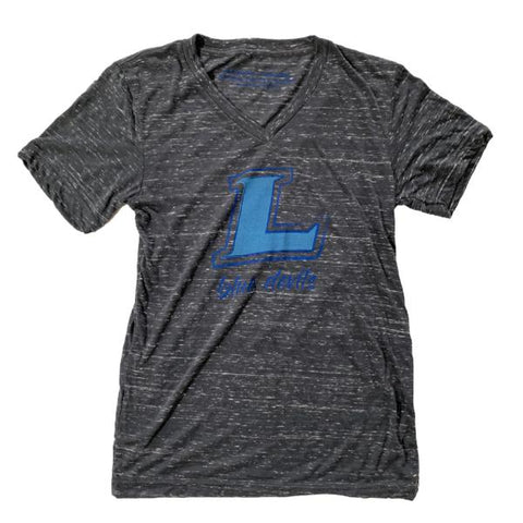 Lebanon Blue Devils V-Neck Tee (Charcoal Marble) | Victory Apparel, Inc.