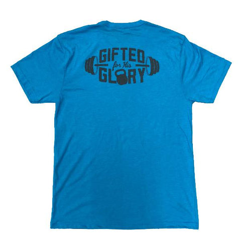 Gifted for His Glory Tee (Vintage Turquoise) | Victory Apparel, Inc.