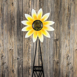 Sunflower windmill with Yellow and White Petal Blades