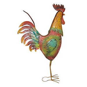 63 Inch Metal Rooster Decorative Garden Statue
