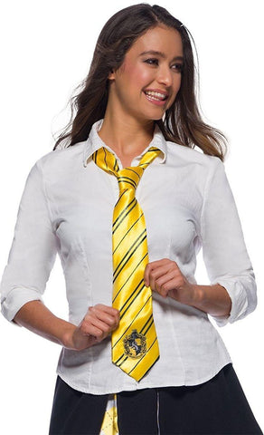 Hufflepuff House Tie with crest