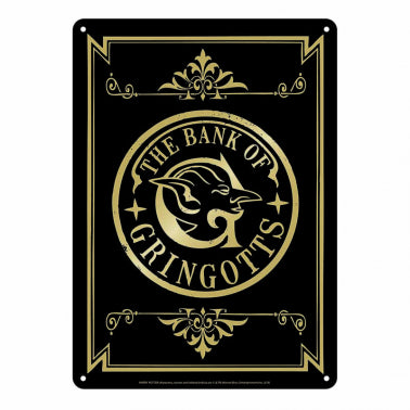 The bank of Gringotts  Tin Sign