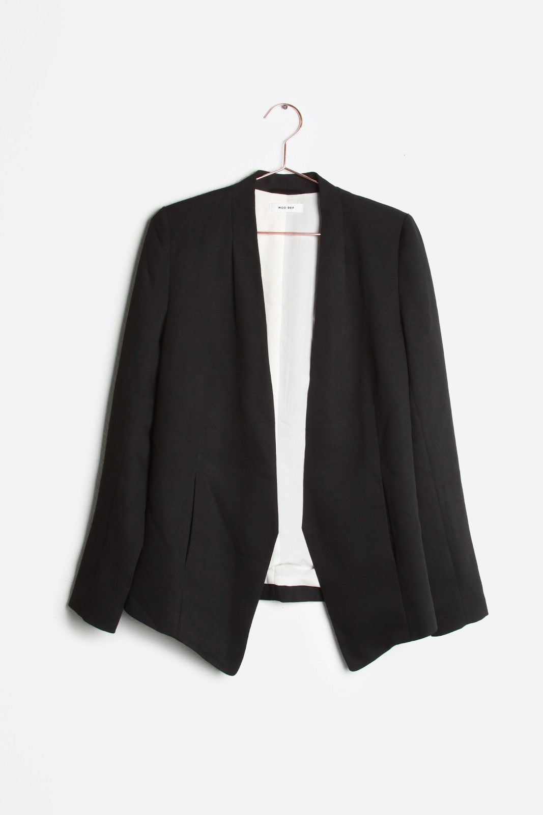 Collarless Black Blazer