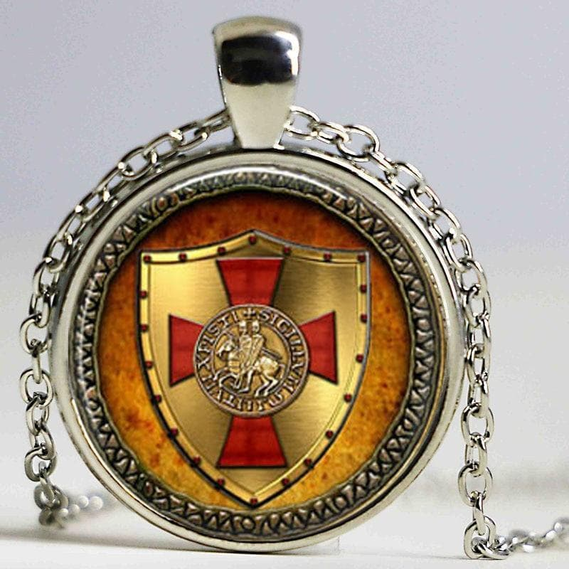 Knights Templar Red Cross Seal Pendant