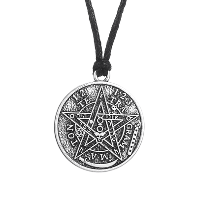 Celtic Antique Silver Plated Wiccan Pentacle Charm Necklace