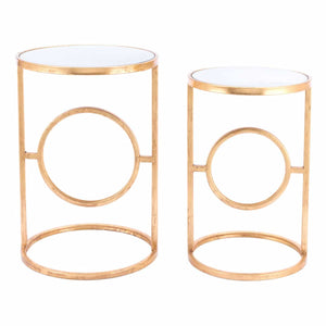 Aro Set of 2 End Tables Gold