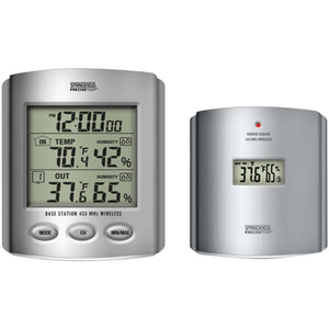 Taylor Wireless Thermometer With Indoor And Outdoor Humidity & Clock