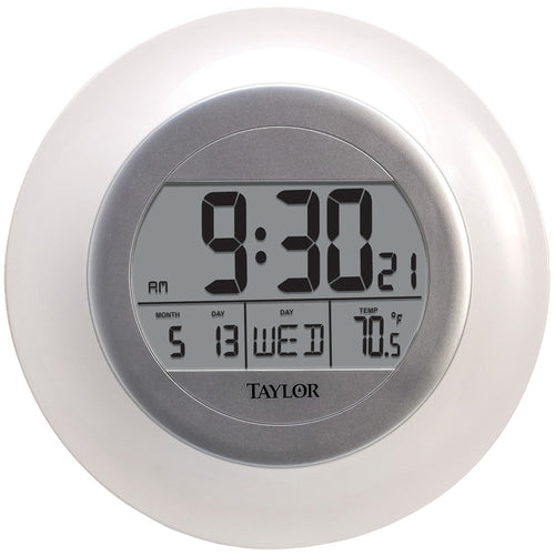 Taylor Atomic Wall Clock With Thermometer