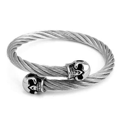 Men's Skull Steel Cable Bracelets