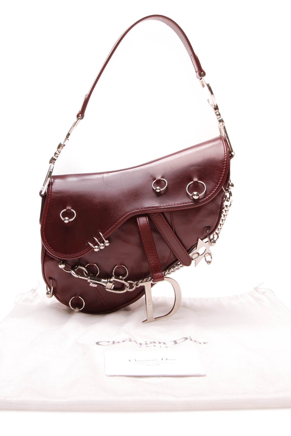 Hardcore Piercing Saddle Bag - Burgundy