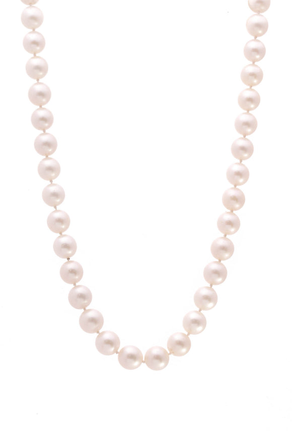 Pearl & Diamond Necklace Gold