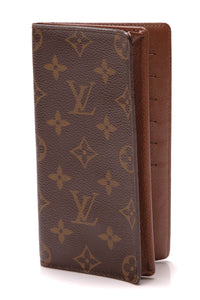 Louis Vuitton Porte Valeurs Wallet Monogram Brown