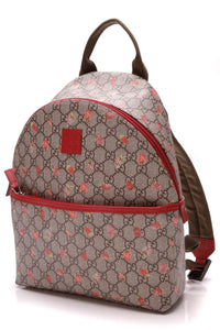 Gucci Children's Strawberry Backpack Supreme Canvas Beige