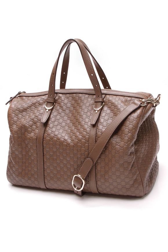 Gucci Joy Medium Boston Bag Brown Microguccissima