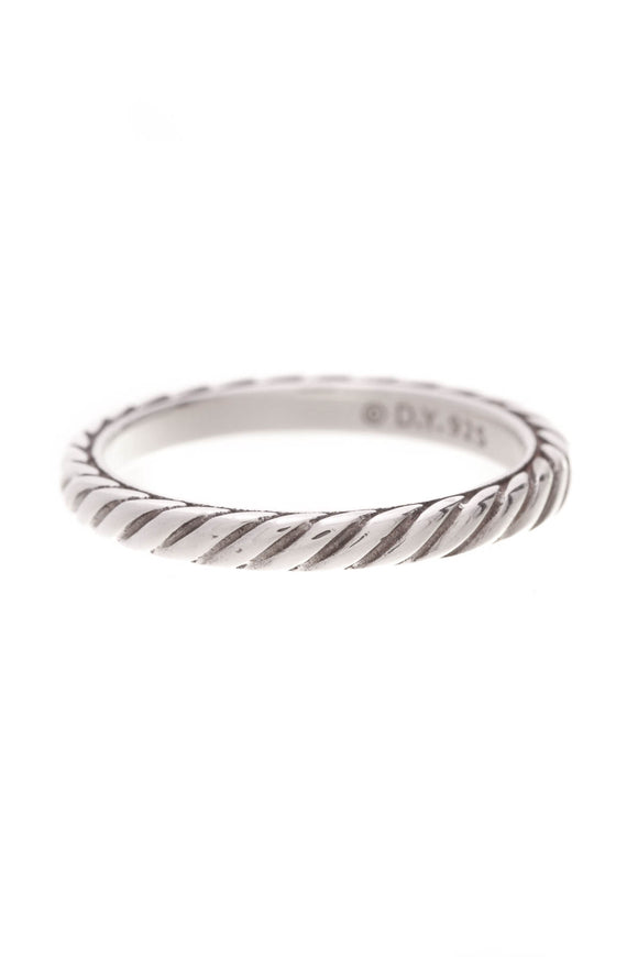 David Yurman Cable Collectibles Band Ring Silver Size 8