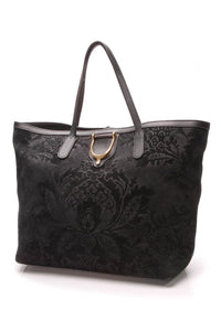 gucci-brocade-stirrup-tote-bag-black-suede