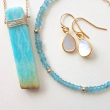 Gold Wrapped Amazonite Necklace - One Of A Kind