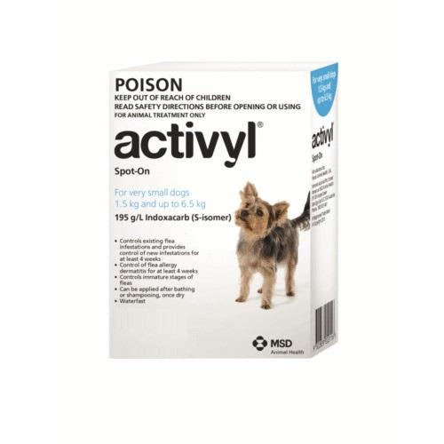 Activyl Spot-on 100mg For Very Small Dogs 4-14 lbs (1.5-6.5 kg) | .Com