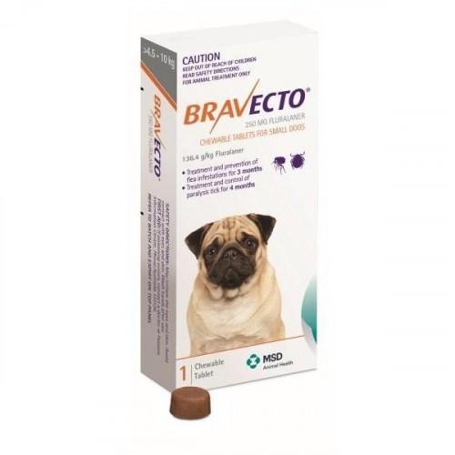 Bravecto Chewable Tablet for Small Dogs 10-22lbs (4.5-10kg) |