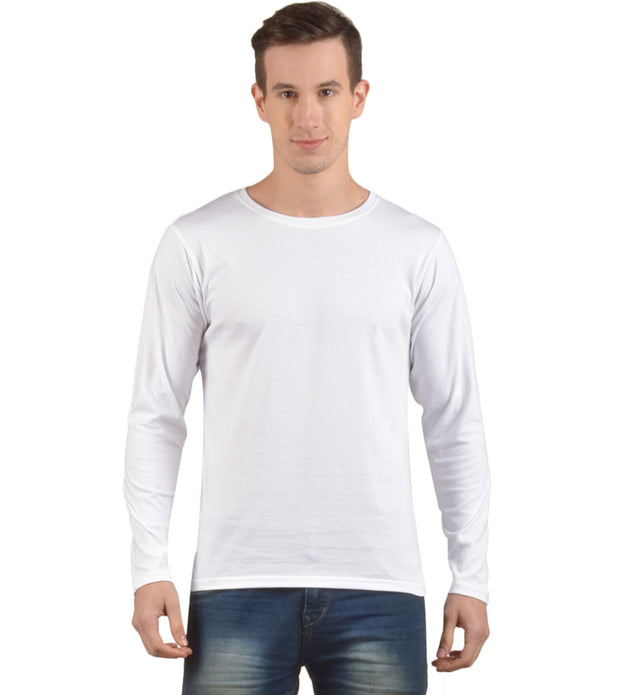 Plain White Full Sleeves Tshirt