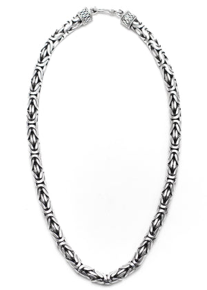 Bali Necklace 8mm - Sterling Silver