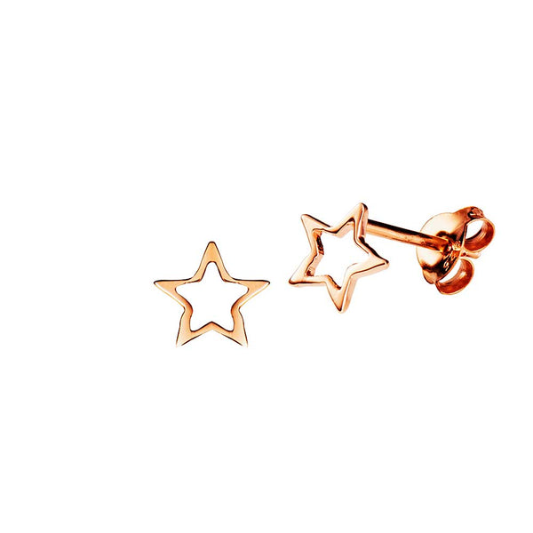 JUULRY Rose Gold Open Star Studs