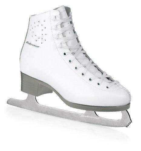 Bladerunner Silvia Women's Performance Ice Figure Skate (White/Silver, US 5)