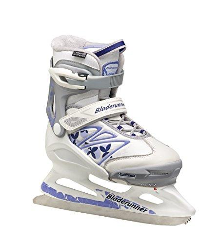 Bladerunner Youth Ice Micro XT G Skate, Size 2-5, White/Purple