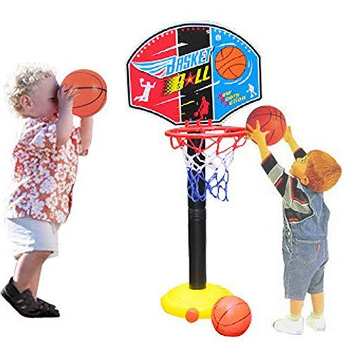CX TECH Boy Portable Basketball Hoop Stand Stand Ball Pump Backboard Set Ball Indoor Outdoor Fun Activities Toys 3 years older Toddler Baby Sports