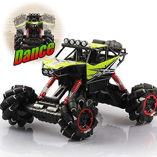 DAYE Remote Control Car RC Drift Car Music Jitter Dancing 1/12 Scale Off-Road RC Monster Truck Overall Direction Drift One-Button Body Rise and Fall All Terrain Climbing Car (Green)