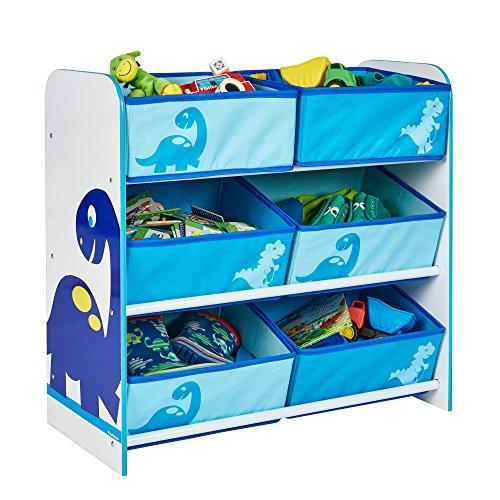 Dinosaurs Kids Bedroom Storage Unit with 6 Bins by HelloHome