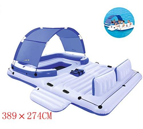 DUBAOBAO Home version of the Water Inflatable bed lounge, 389x274cm with open-top inflatable sofa Floating chair sofa, water floating chair sofa Inflatable boat