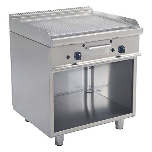 Electric grill 800Gas Grooves on Basin E7/ktg2bar-Saro