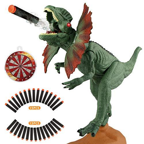 Epoch Air Dinosaur Shooting Toys Games with 30 Soft Darts for Kids Boys Girls Large Realistic Dinosaur Figure with Roar Light Up Eyes Dino Animal Toys Gifts for Indoor Outdoor Garden Party Decorations