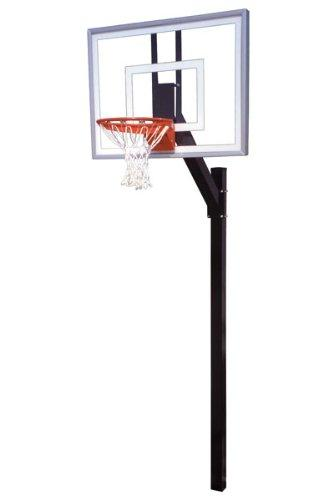First Team Legacy Turbo In-Ground Basketball Hoop with 54 Inch Glass Backboard