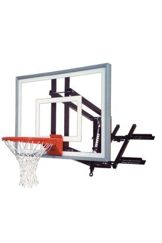 First Team RoofMaster Turbo Roof and Wall Mount Basketball Hoop with 54 Inch Glass Backboard