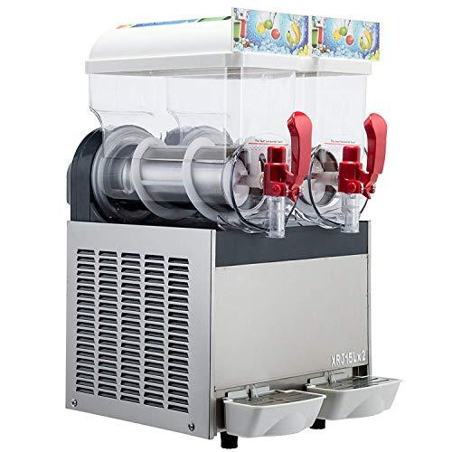 Free Shipment Commercial Frozen Drinks Making Machine Margarita Summer Drink Maker 2 * 15L Tanks ice sulsh Machine Frozen Slushie Machine with Full Refrigerant