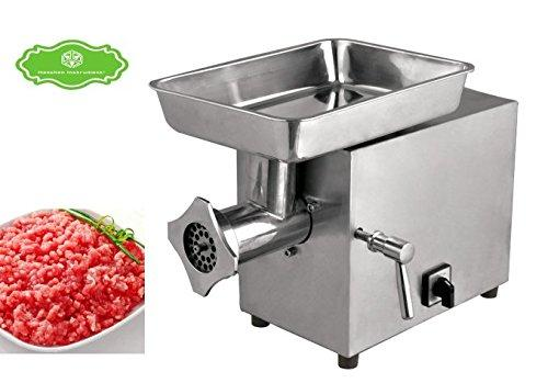 Hanchen Commericial Stainless Steel Electric 120KG/H Table Meat Grinder Mincer Automatic Meat Cutting Machine (220V, C22B)