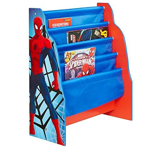 Marvel Spider-Man Kids Sling Bookcase - Bedroom Storage by HelloHome