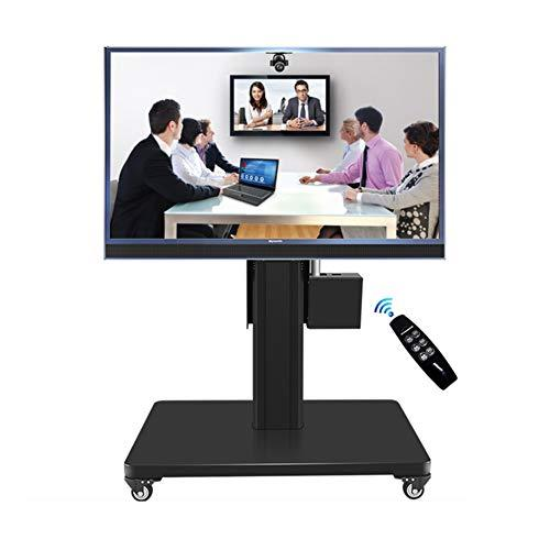 "Mobile TV Cart Floor Stand Mount Remote Control Rise Drop Video Conference Home Display Trolley for 46""-65"" Plasma/LCD/LED"