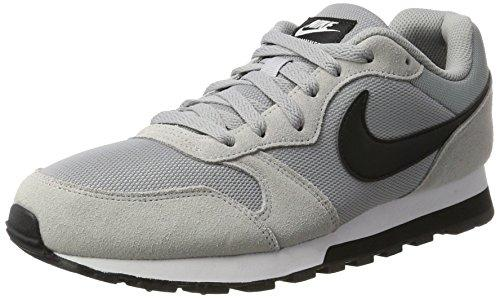 Nike Men's Md Runner 2 Running Shoes, (Wolf Grey/Black/White 001), 13 UK