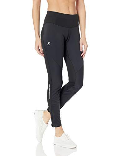 Salomon Trail Runner Wes Tight W Athletic Pants, Black/Black, Small